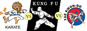 Karate vs Kung Fu vs Taekwondo