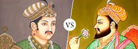 Akbar vs Shahjahan