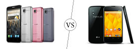 Alcatel One Touch Idol vs Nexus 4