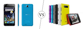 Alcatel One Touch Idol Ultra vs Nokia Lumia 820