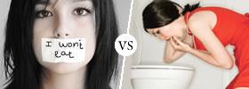 Anorexia vs Bulimia