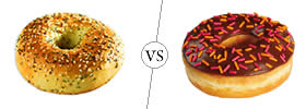 Bagel vs Donut
