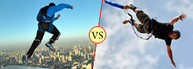 Base Jumping vs Bungee Jumping