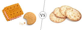 Biscuits vs Crackers