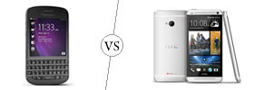 Blackberry Q10 vs HTC One