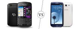 Blackberry Q10 vs Samsung Galaxy S3