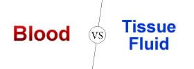 Blood vs Tissue Fluid