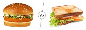 Burger vs Sandwich