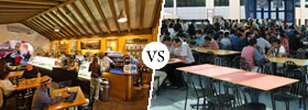 Cafe vs Cafeteria