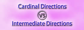 Cardinal Directions vs Intermediate Directions