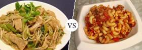 Chinese Chop suey vs American Chop suey