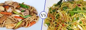 Chow Mein vs Hakka Noodles