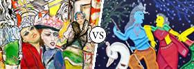 Contemporary vs Traditional Art