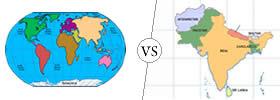 Continent vs Subcontinent