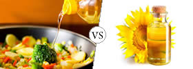Cooking Oil vs Sunflower Oil