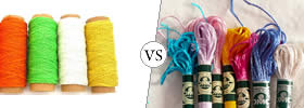 Craft Thread vs Embroidery Floss