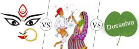 Durga Puja vs Navratri vs Dussehra