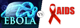 Ebola vs AIDS