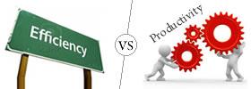 Efficiency vs Productivity