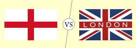 England vs London