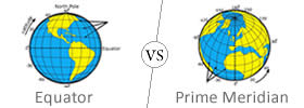 Equator vs Prime Meridian