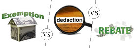 Exemption vs Deduction vs Rebate