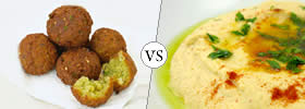 Falafel vs Hummus