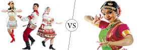 Folk vs Classical Dance