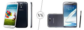 Samsung Galaxy S4 vs Note II