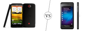 HTC One X+ vs BlackBerry Z10
