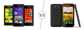 HTC Windows 8X vs HTC One X