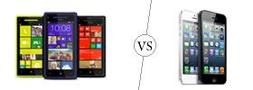 HTC Windows 8X vs iPhone 5