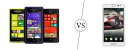 HTC Windows 8X vs LG Optimus F7