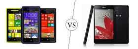 HTC Windows 8X vs LG Optimus G