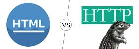 HTML vs HTTP