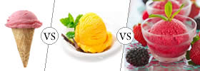 Ice Cream vs Gelato vs Sorbet
