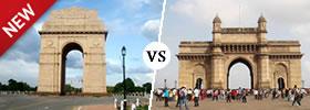India Gate vs Gateway of India