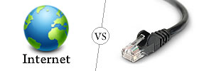 Internet vs Ethernet