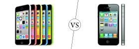 iPhone 5C vs iPhone 4