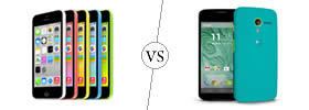iPhone 5C vs Moto X