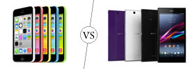 iPhone 5C vs Sony Xperia Z Ultra
