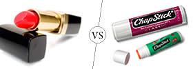 Lipstick vs Chapstick