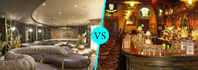 Lounge vs Pub