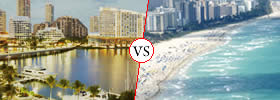 Miami vs Miami Beach