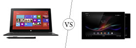 Microsoft Surface Pro vs Sony Xperia Z Tab