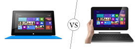 Microsoft Surface RT vs Dell XPS 10 Tablet