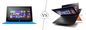 Microsoft Surface RT vs Lenovo IdeaPad Yoga 11