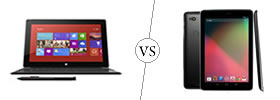 Microsoft Surface RT vs Nexus 7
