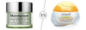 Moisturizer vs Cold Cream