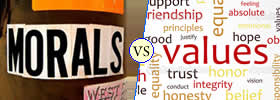 Morals vs Values